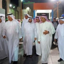 Ibrahim Abdulaziz Al-Assaf (2nd L), then Saudi Arabia's Finance Minister, and Bakr bin Laden (2nd R), Chairman of Saudi Binladin Group, visit a construction project in Medina, Saudi Arabia July 23, 2014. Saudi Press Agency/Handout via REUTERS